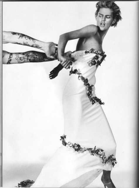 Stella Tennant photographed by Craig McDean in Givenchy couture by Alexander McQueen, spring 1997