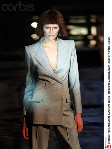 Frankie Rayder in Givenchy FW 1999 RTW by Alexander McQueen