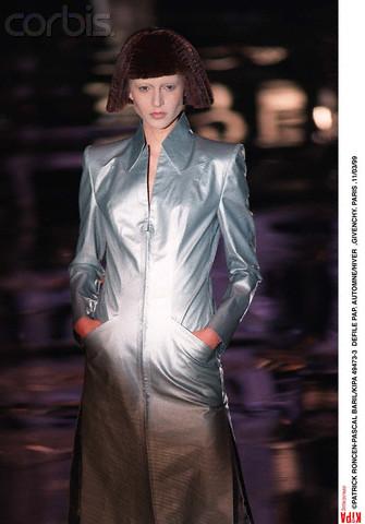Liisa Winkler in Givenchy FW 1999 RTW by Alexander McQueen