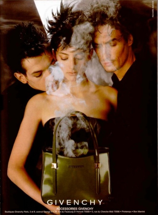Accessoires Givenchy Fall 1997 photographed by Richard Avedon