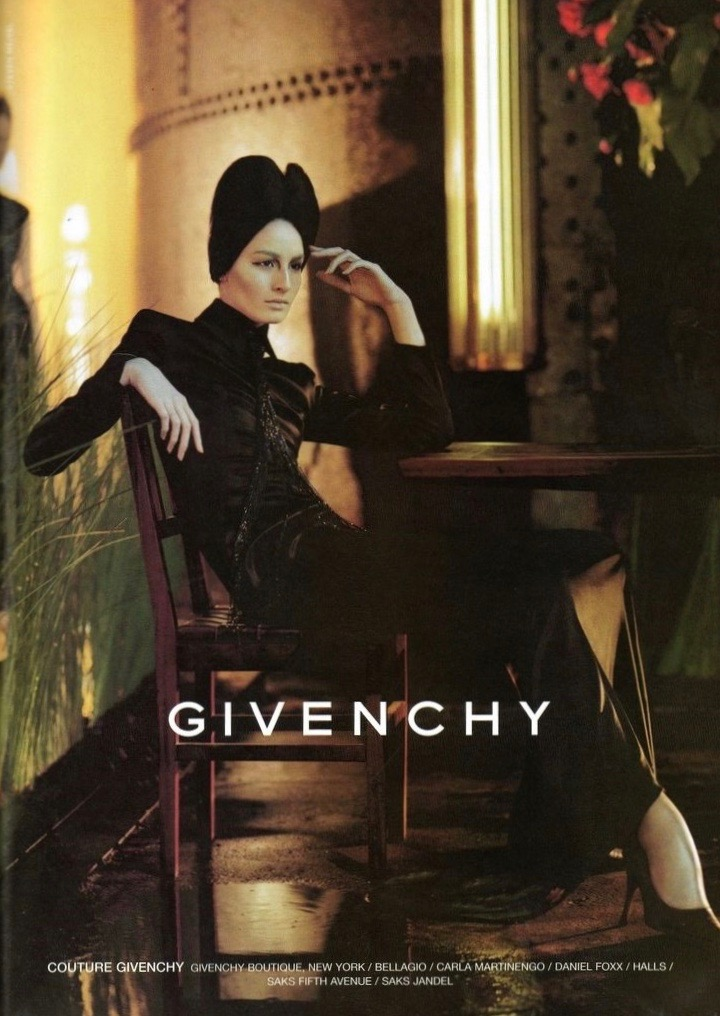 Erin O'Connor in Steven Meisel's Fall 1998 ad campaign for Givenchy by Alexander McQueen