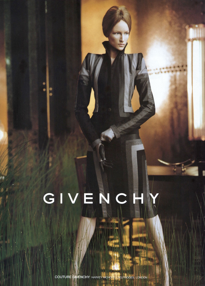 Jade Parfitt in Steven Meisel's Fall 1998 ad campaign for Givenchy by Alexander McQueen