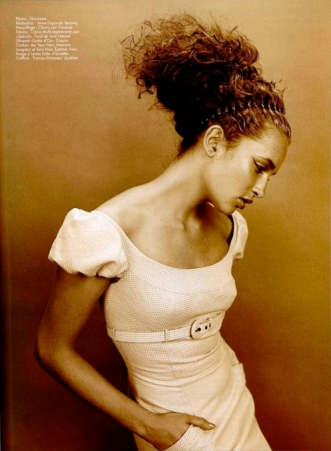 Givenchy dress in L'Officiel, February 1997