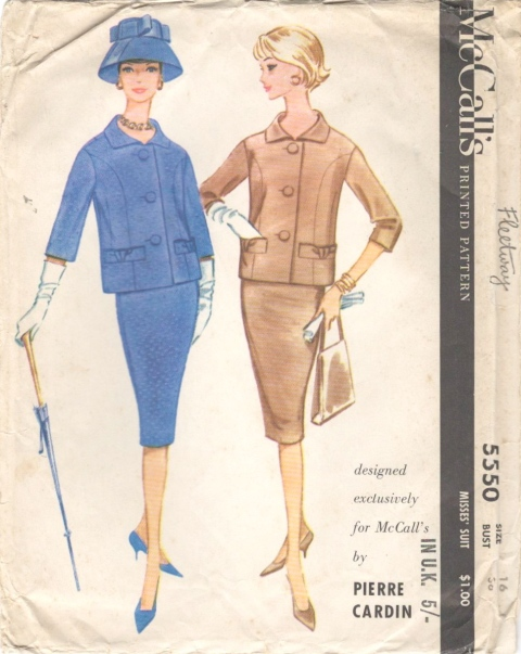 1960 Pierre Cardin pattern McCall's 5550 jacket and skirt