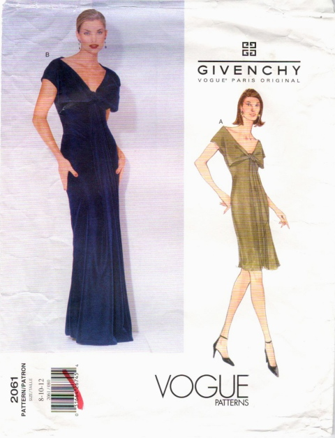 Givenchy by John Galliano pattern Vogue 2061 evening gown 1997