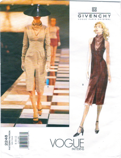 Givenchy by Alexander McQueen pattern Vogue 2248