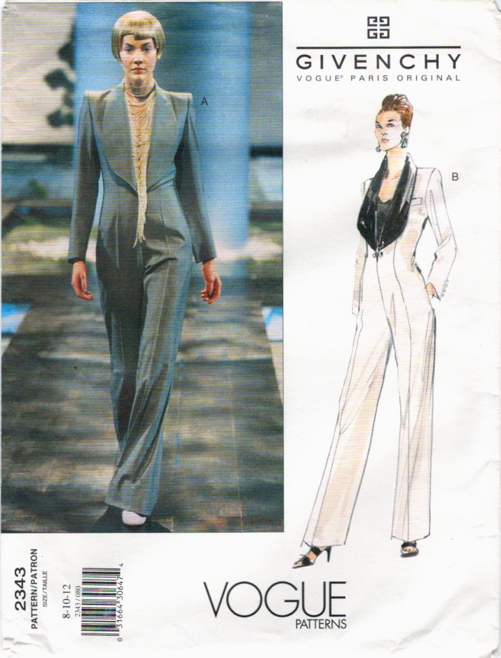 Givenchy by Alexander McQueen pattern Vogue 2343
