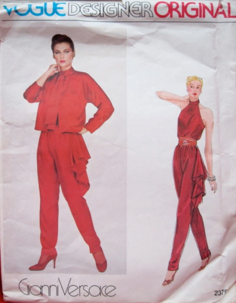 1980s Versace pattern Vogue 2375