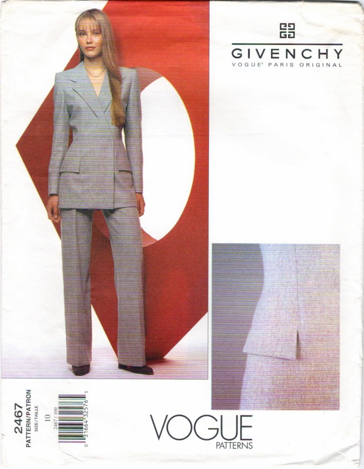 Givenchy by Alexander McQueen pattern Vogue 2467