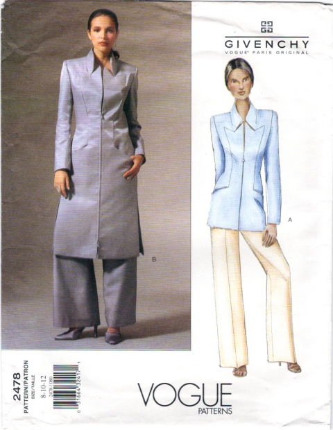 Givenchy by Alexander McQueen pattern Vogue 2478