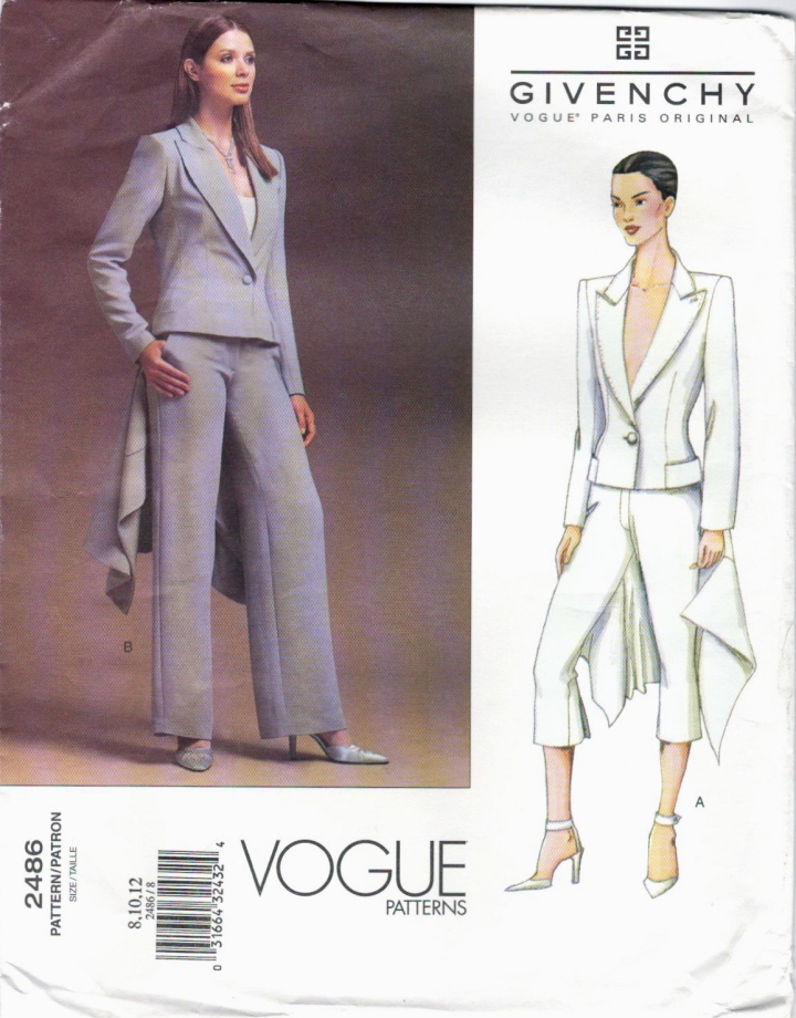 Givenchy by Alexander McQueen pattern Vogue 2486