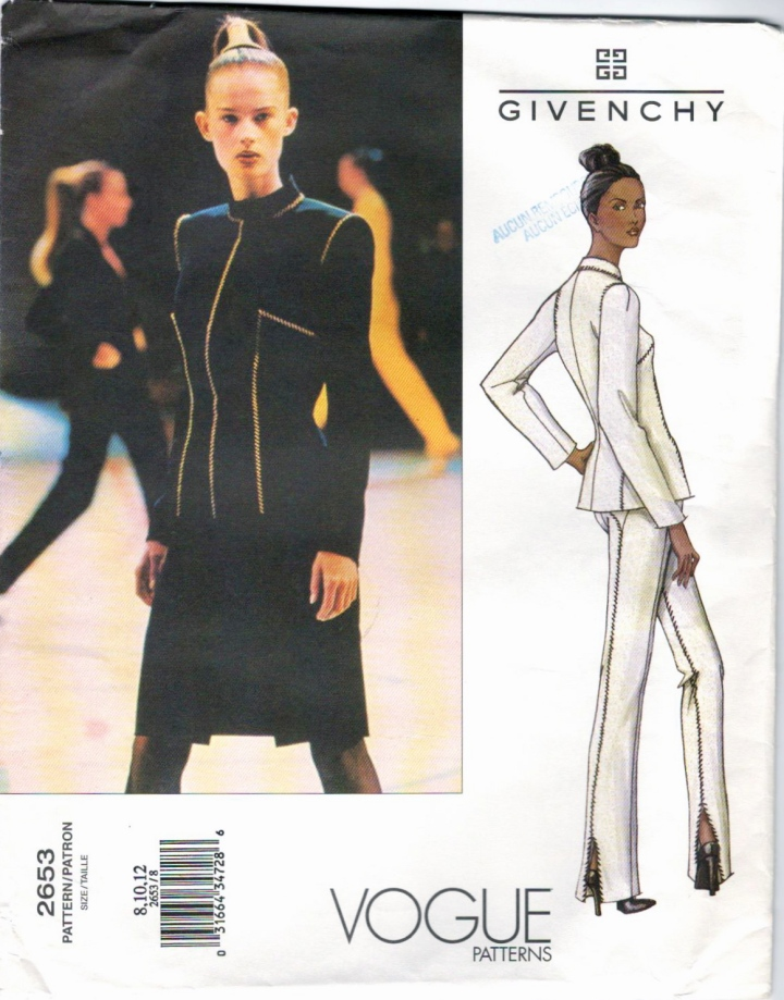 Givenchy by Alexander McQueen pattern Vogue 2653