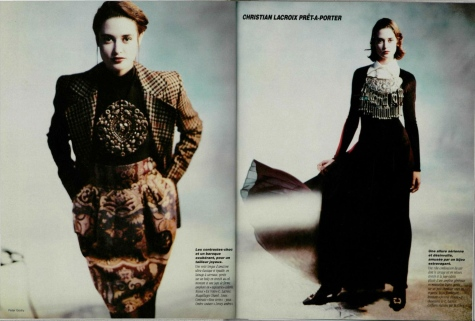 Christian Lacroix ready-to-wear in L'Officiel, August 1988