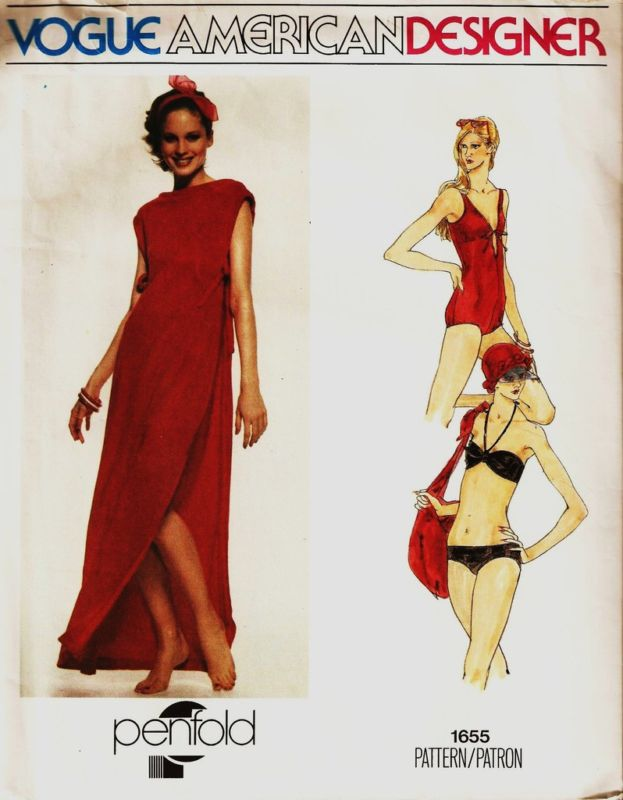 Vogue 1655 by Penfold (1977) Swimsuit, bikini and cover-up