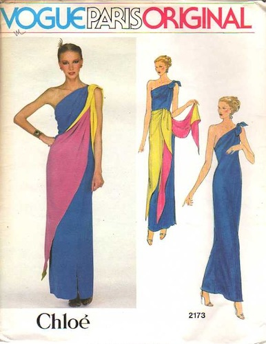 1970s Chloé evening dress pattern - Vogue 2173
