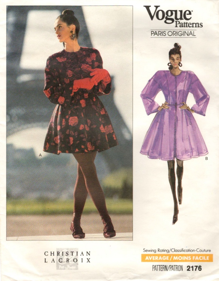 1980s Christian Lacroix pattern Vogue Paris Original 2176