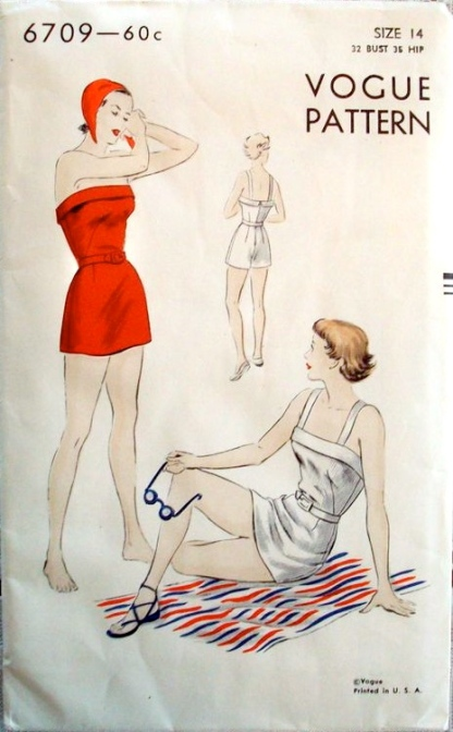 1940s bathing suit pattern - Vogue 6709