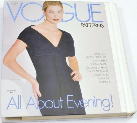 All About Evening! Vogue 2061 by John Galliano for Givenchy, Vogue Patterns catalogue, Jan/Feb 1998