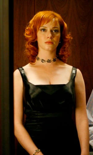 Joan Holloway black dress Christina Hendricks Mad Men Season 1 Long Weekend