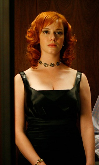Joan Holloway black dress Christina Hendricks Mad Men Season 1 Long Weekend