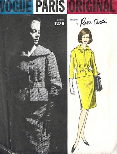 1960s Pierre Cardin skirt suit pattern - Vogue 1278
