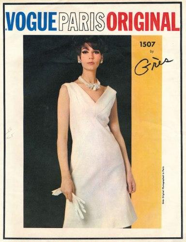 1960s Grès bias dress pattern - Vogue 1507