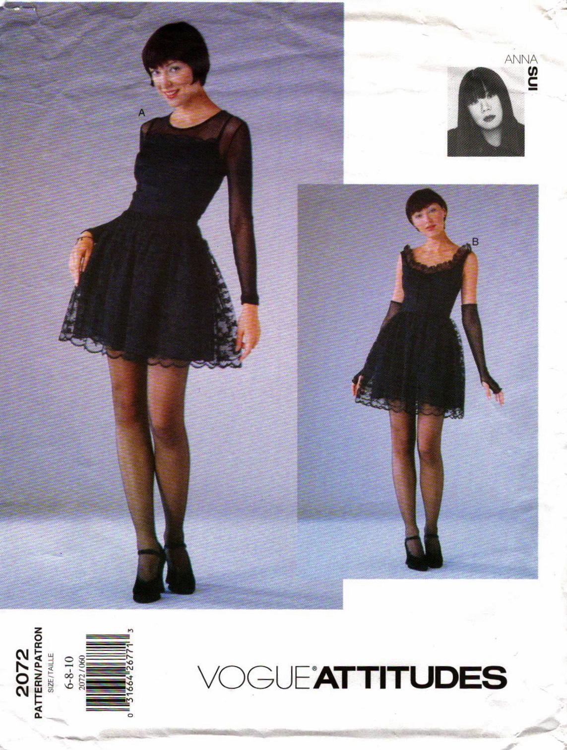 Yves saint laurent patternvault 1990s anna sui goth collection pattern vogue 2072 jeuxipadfo Images