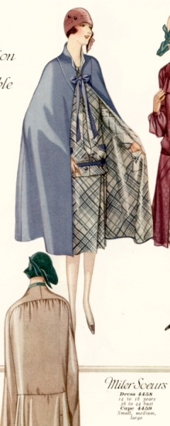 McCall 4459 Miler Soeurs 1920s cape pattern McCall Quarterly Summer 1926