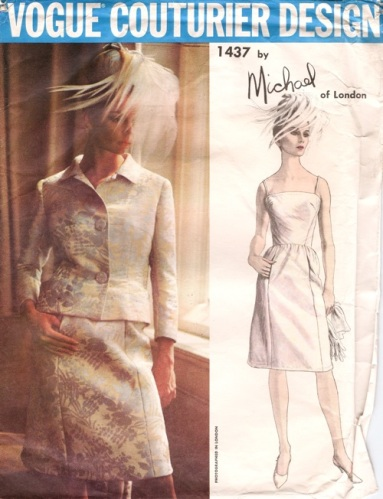 1960s Michael of London (Michael Donéllan) evening suit pattern - Vogue 1437