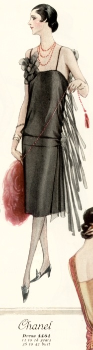 McCall 4464 1920s Chanel evening dress pattern McCall Quarterly Summer 1926