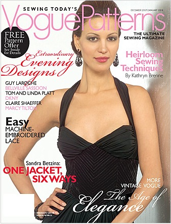 Vogue Patterns magazine December 2007 January 2008