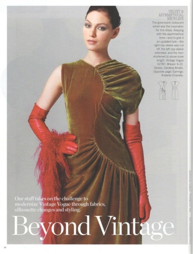 Vogue 2787 Beyond Vintage October/November 2011