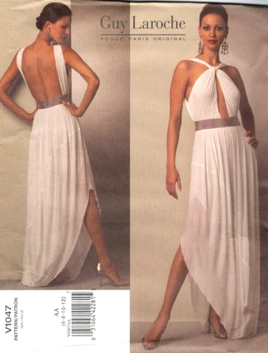 Vogue V1047 by Damian Yee for Guy Laroche evening dress for stretch knits