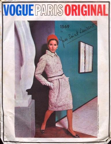 1960s Yves Saint Laurent suit and blouse pattern Vogue 1569