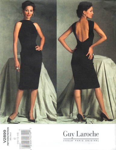 Vogue 2899 Guy Laroche cocktail dress pattern by Herve L. Leroux
