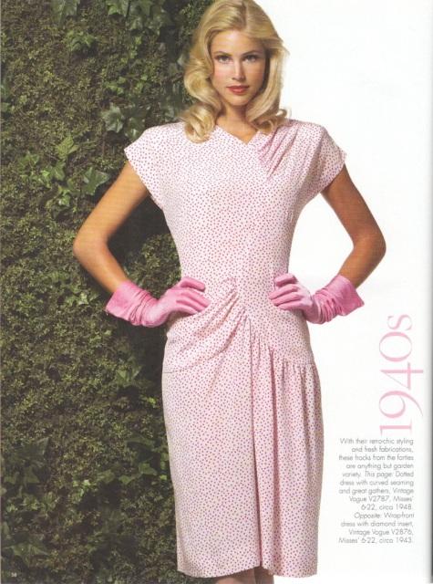 1940s Vintage Vogue pattern V2787 in Well Cultivated Vintage Vogue April/May 2007