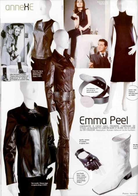Emma Peel feature in L'Officiel no. 829 (Oct. 1998)