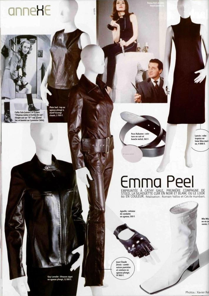 Emma Peel feature in L'Officiel no. 829 (Oct. 1998)