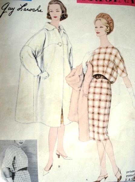 1950s Guy Laroche dress and coat pattern - Vogue 1450