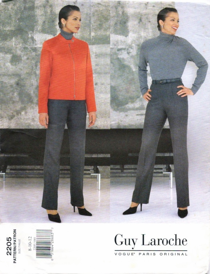 1990s Alber Elbaz for Guy Laroche jacket and pants pattern - Vogue 2205