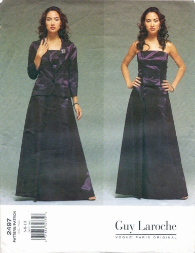 Vogue 2497 Alber Elbaz for Guy Laroche eveningwear pattern