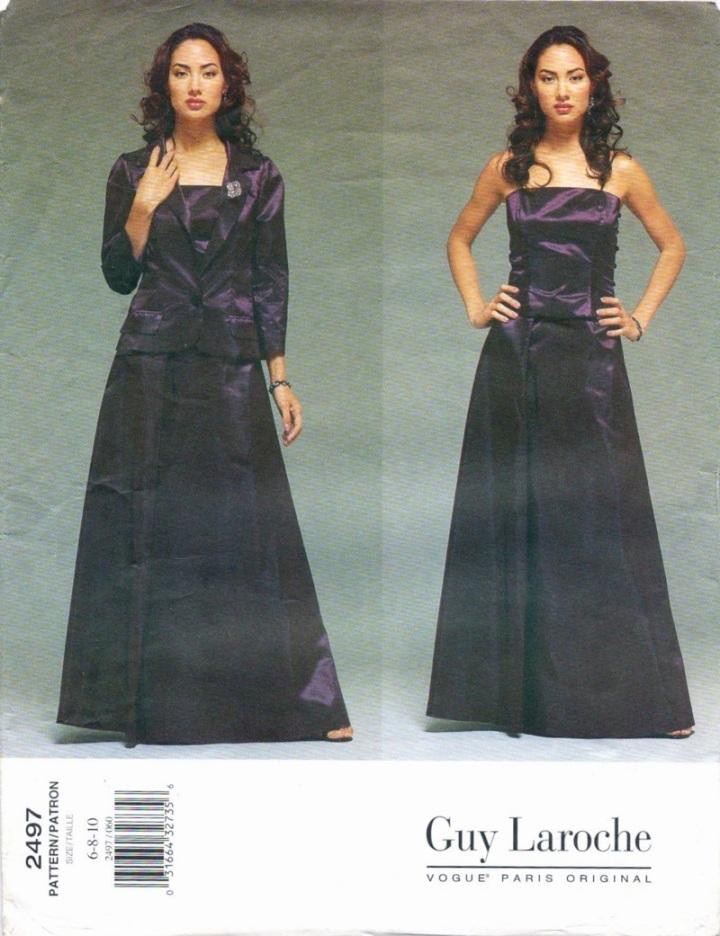 1990s Alber Elbaz for Guy Laroche eveningwear pattern - Vogue 2497