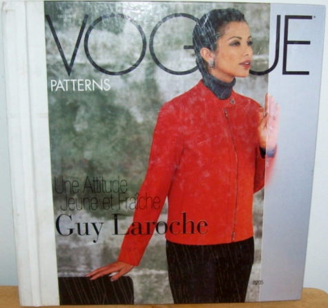 Vogue 2205 by Guy Laroche on the cover of the Vogue Patterns store catalog, December 1998