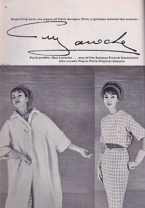 1950s Vogue 1450 by Laroche in Vogue Pattern Book