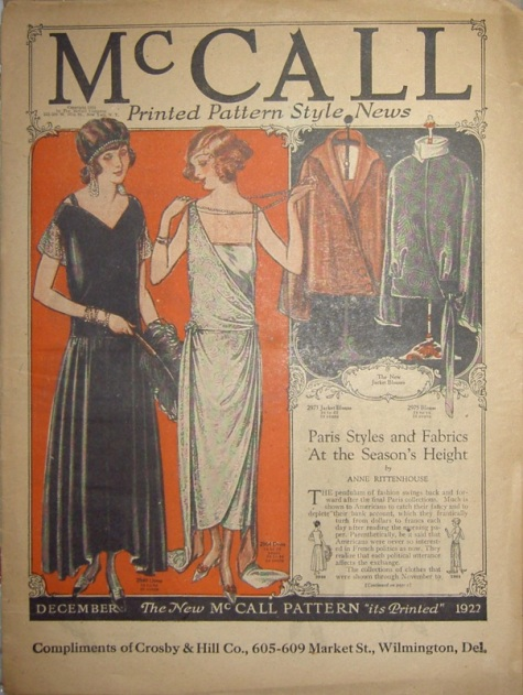 early 1920s evening dresses on McCall news December 1922