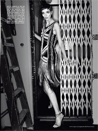 Vogue Italia, February 2012. Photo: Patrick Demarchelier. Model: Mariacarla Boscono.
