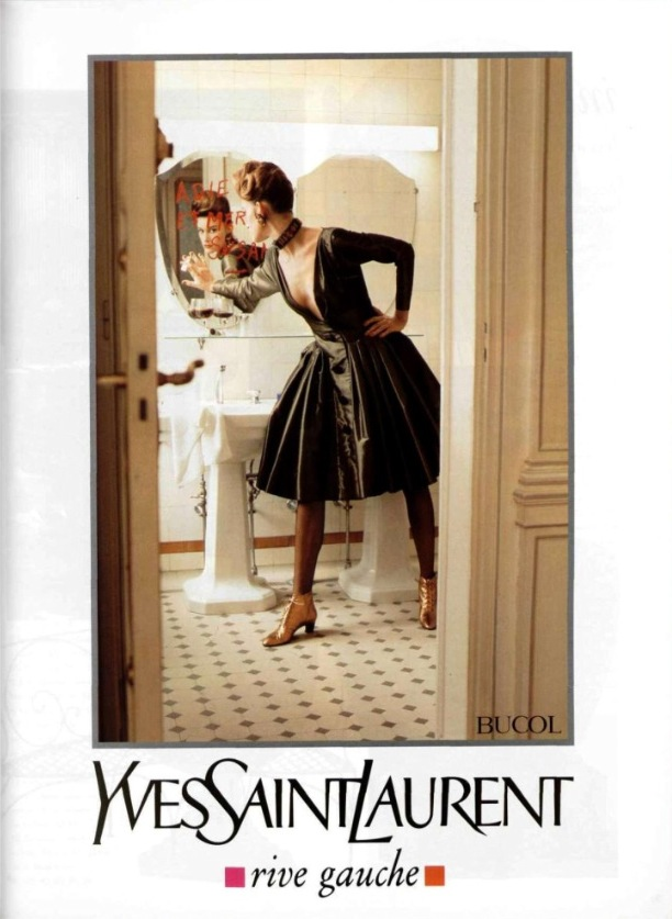 Yves Saint Laurent rive gauche ad campaign by Helmut Newton autumn 1991