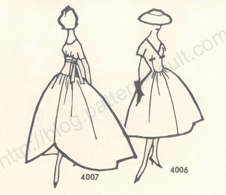 McCall's 4007 & 4006 illustrations patterns by Givenchy