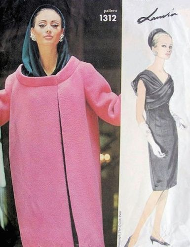 Lanvin evening dress and coat pattern - Vogue 1312