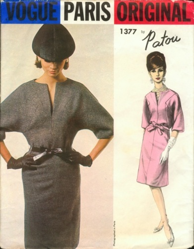 1960s Patou dress pattern - Vogue 1377